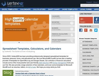 vertex42.com screenshot