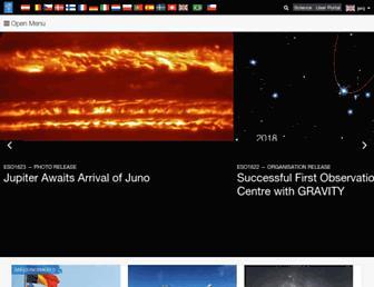 eso.org screenshot