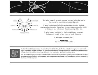 Main page screenshot of culturalradius.co.za