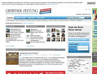 Main page screenshot of giessener-zeitung.de