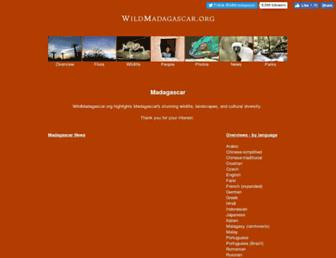 Main page screenshot of wildmadagascar.org