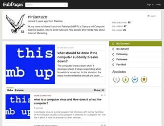 ninjacraze.hubpages.com screenshot