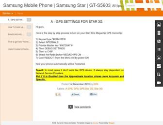 samsungmobile-india.blogspot.com screenshot