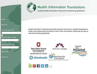 healthinfotranslations.org screenshot