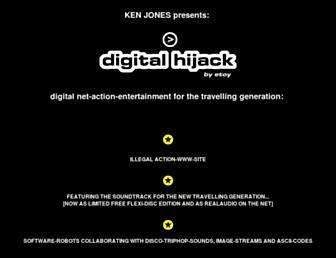 Main page screenshot of hijack.org