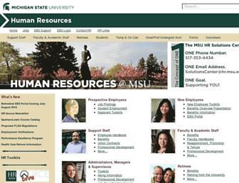 hr.msu.edu screenshot
