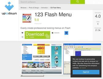 123-flash-menu.en.uptodown.com screenshot