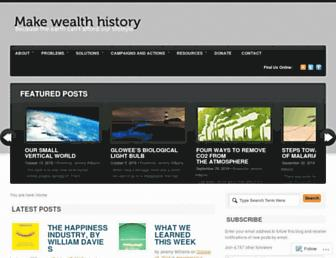 Main page screenshot of makewealthhistory.org