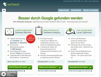 Main page screenshot of seitwert.de