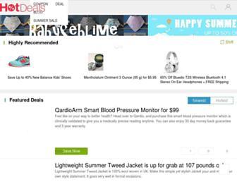 hotdeals.com screenshot