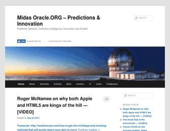 Main page screenshot of midasoracle.org