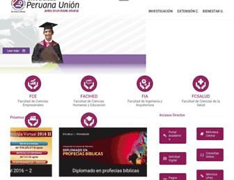 upeu.edu.pe screenshot