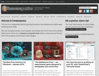 freewaregenius.com screenshot