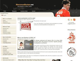 Main page screenshot of marcovanbasten.net