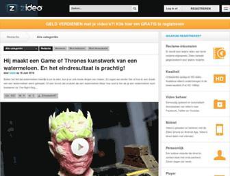 Main page screenshot of zideo.nl
