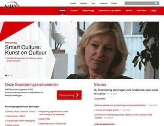 Main page screenshot of nwo.nl