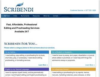 scribendi.com screenshot