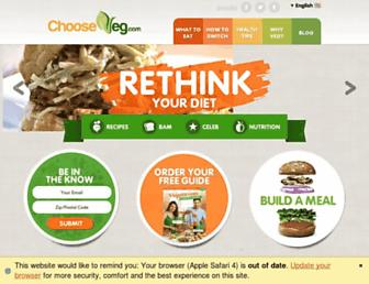 Thumbshot of Chooseveg.com