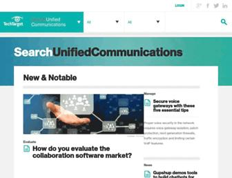 searchunifiedcommunications.techtarget.com screenshot