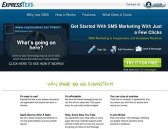 expresstext.net screenshot