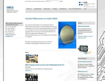 Main page screenshot of imes.hsr.ch