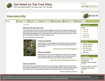 Main page screenshot of tree-care.info