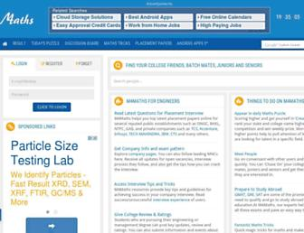 m4maths.com screenshot