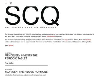 Main page screenshot of scq.ubc.ca
