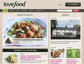 Thumbshot of Lovefood.com