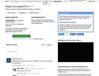 online.officerecovery.com screenshot