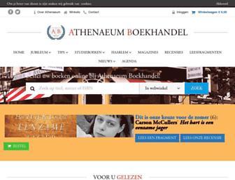Main page screenshot of athenaeum.nl