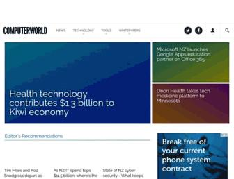 Main page screenshot of computerworld.co.nz