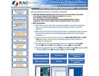 remote-rac.com screenshot
