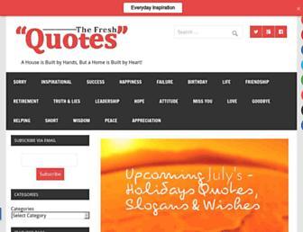 thefreshquotes.com screenshot