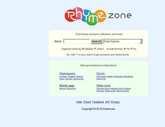 rhymezone.com screenshot