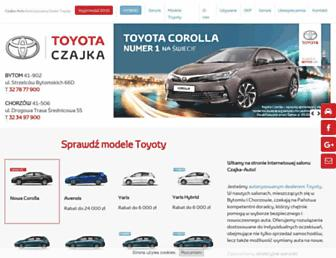 Main page screenshot of toyota-bytom.pl