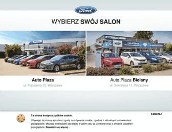 Main page screenshot of autoplaza.com.pl