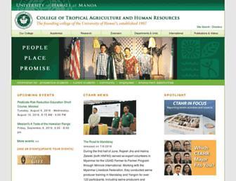 Main page screenshot of ctahr.hawaii.edu