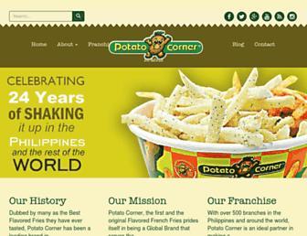 potatocorner.com screenshot