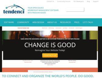 tendenci.com screenshot