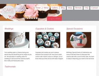 Main page screenshot of cakecreations.ca