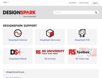 designspark.zendesk.com screenshot