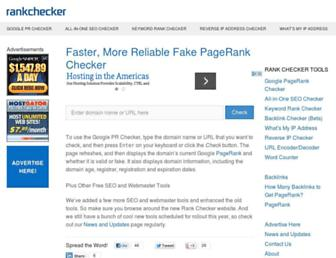 Thumbshot of Rankchecker.com