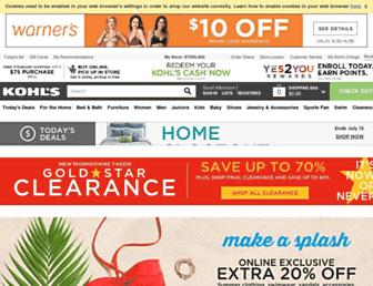 Screenshot for kohls.com