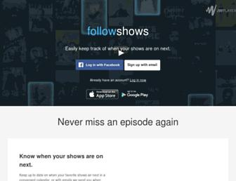 followshows.com screenshot