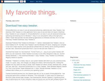 myffavoritethings.blogspot.com screenshot