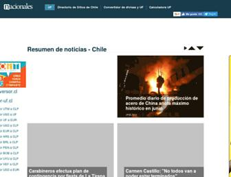 nacionales.cl screenshot