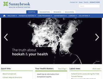 Fullscreen thumbnail of sunnybrook.ca