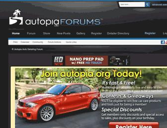 Main page screenshot of autopia.org