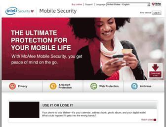 mcafeemobilesecurity.com screenshot